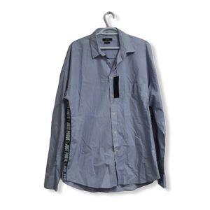 NWT Zara Man Striped Button Down Shirt